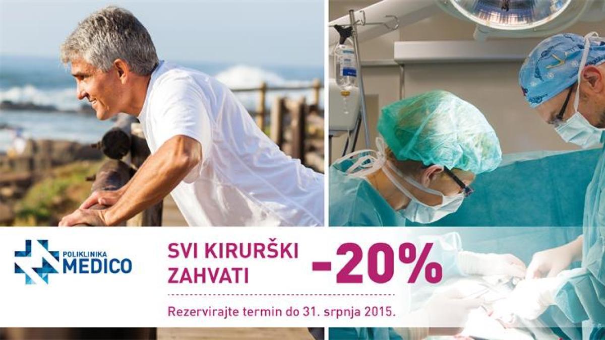 Svi kirurški zahvati 20% povoljniji!