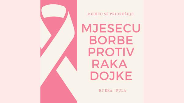 Medico u Rijeci i u Puli uključen u mjesec borbe protiv raka dojke