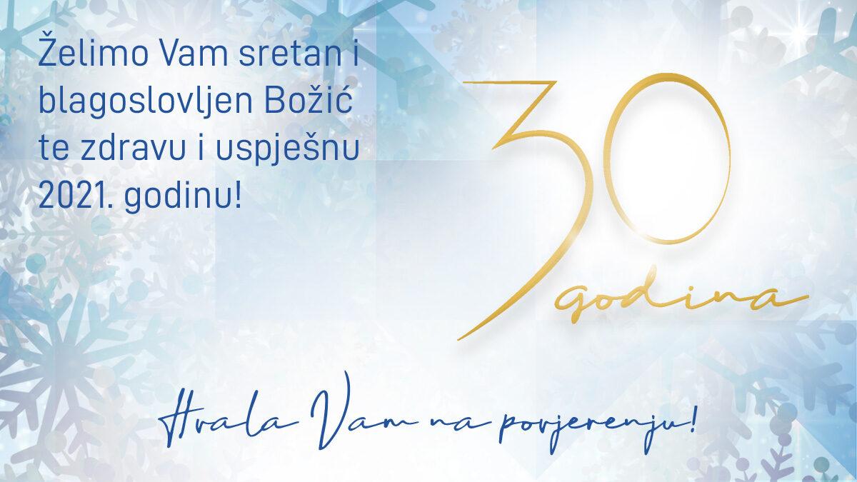 Želimo Vam sretan i blagoslovljen Božić te zdravu i uspješnu Novu godinu
