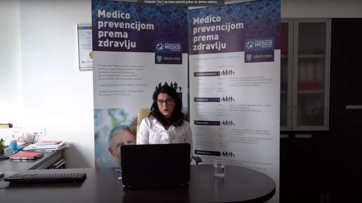 "Online edukacija u sklopu projekta ""Medico prevencijom prema zdravlju"""